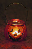 Halloween pumpkin candle Royalty Free Stock Images