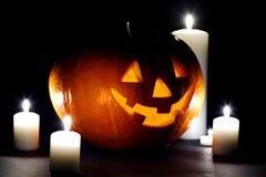 Halloween pumpkin with candles Stock Photos