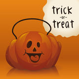 Halloween Pumpkin Candy basket Stock Images
