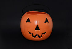 Halloween Pumpkin candy bucket for trick-or-treating Stock Images