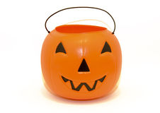 Halloween Pumpkin candy bucket for trick-or-treating Stock Photography
