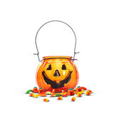Halloween Pumpkin Candy Jar Royalty Free Stock Image