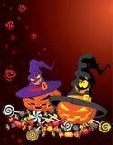 Halloween pumpkin card Royalty Free Stock Photos