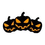 Halloween pumpkin card icon Royalty Free Stock Photo