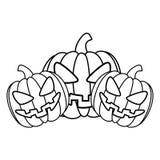 Halloween pumpkin card icon Stock Image