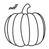 Halloween pumpkin card icon Royalty Free Stock Photos