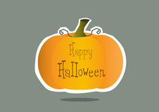 Halloween pumpkin cards,design, illustrations Stock Image