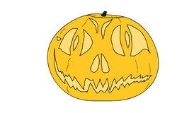 Halloween pumpkin. A cartoon orange halloween pumpkin JackOLantern Stock Photography