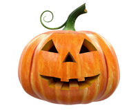Halloween Pumpkin carving Jack-o-Lantern isolated. Halloween Pumpkin Jack-o-Lantern Stock Photos