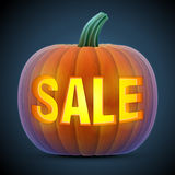 Halloween pumpkin with carving Stock Photos