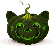 Halloween Pumpkin Cat Royalty Free Stock Images