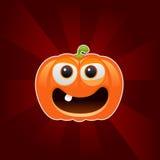 Halloween pumpkin character Stock Image