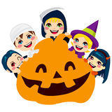 Halloween Pumpkin Children Royalty Free Stock Image