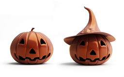 Halloween pumpkin chocolate. Is isolated on a white background Royalty Free Stock Images