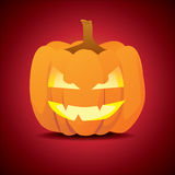 Halloween pumpkin. Classic scary pose of halloween pumpkin - illustration Royalty Free Stock Image