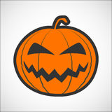 Halloween pumpkin color icon Stock Photo