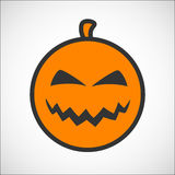 Halloween pumpkin color smiley icon Royalty Free Stock Photography