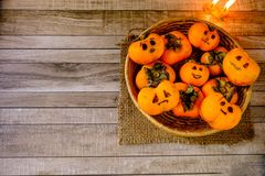 Halloween Pumpkin Concept And Ghosts stock image