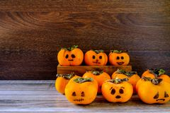 Halloween Pumpkin Concept And Ghosts royalty free stock photo