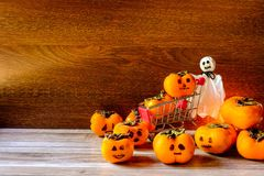Halloween Pumpkin Concept And Ghosts stock photos