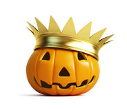 Halloween pumpkin crown Royalty Free Stock Photos