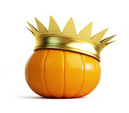 Halloween pumpkin crown. Isolated on a white background Royalty Free Stock Images