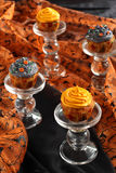 Halloween pumpkin cupcake Stock Photos