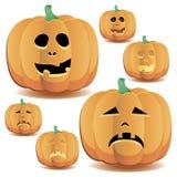 Halloween pumpkins set 8 royalty free illustration
