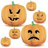 Halloween pumpkins set 15 stock illustration