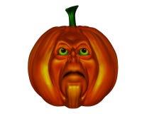 Halloween pumpkin - 3D render Royalty Free Stock Photo