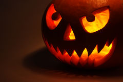Halloween pumpkin in dark Stock Photography