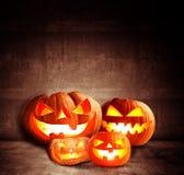 Halloween pumpkin in the dark Stock Photography