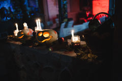 Halloween Pumpkin. Decoration for the celebration of Halloween Royalty Free Stock Photos