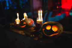Halloween Pumpkin. Decoration for the celebration of Halloween Royalty Free Stock Images