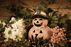 Halloween pumpkin decoration Royalty Free Stock Photo