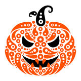 Halloween pumpkin. Decorative pattern silhouette Stock Image