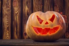 Halloween pumpkin design with copy space. place for text stock photo