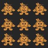 Halloween Pumpkin doll set Stock Images