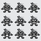 Halloween Pumpkin doll set Stock Image