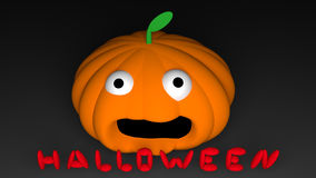 Halloween. Pumpkin drawing and illustration Royalty Free Stock Images