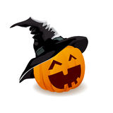 Halloween pumpkin emotions in a hat Royalty Free Stock Images