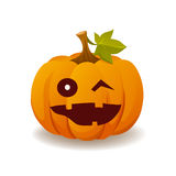 Halloween pumpkin emotions Stock Photos