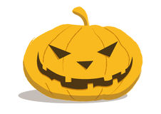 HALLOWEEN PUMPKIN. With an evil smile Royalty Free Stock Photo