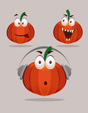 Halloween Pumpkin with Expressions Royalty Free Stock Photos