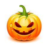 Halloween pumpkin face. In a glossy style stock illustration