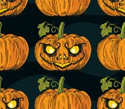 Halloween Pumpkin Face Flier Royalty Free Stock Photos