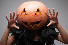 Halloween pumpkin face Royalty Free Stock Photos
