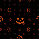 Halloween pumpkin face (Seamless texture) Stock Images