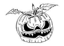 Halloween pumpkin with face Royalty Free Stock Photos