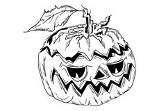 Halloween pumpkin with face Stock Photography